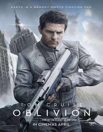Poster Of Oblivion 2013 Dual Audio 500MB BRRip 720p ESubs HEVC Free Download Watch Online downloadhub.net