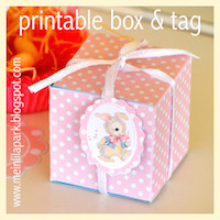 printable pink polka dot box