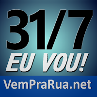 vem pra rua Brasil 31-7 azul