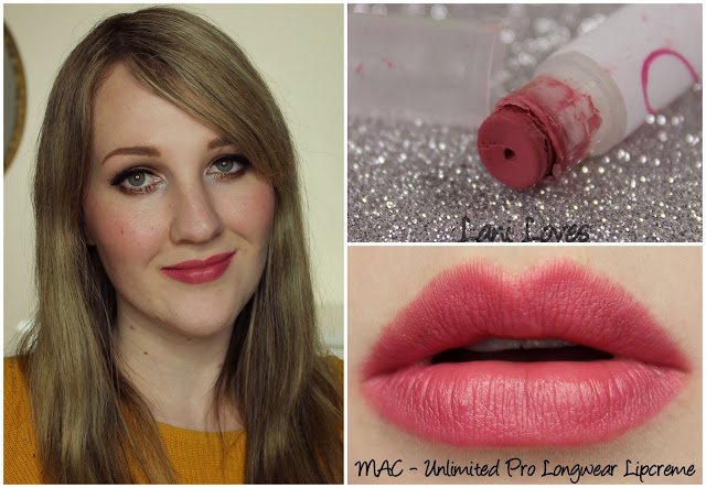 MAC Unlimited Pro Longwear Lipcreme lipstick swatch