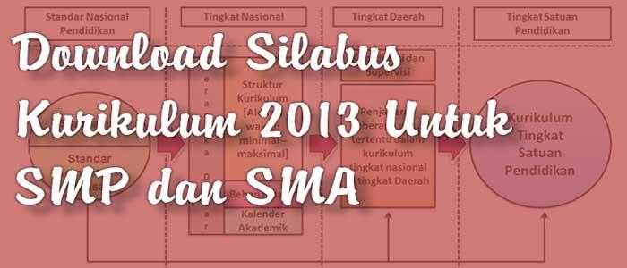 Download Silabus Kurikulum 2013 Untuk SMP dan SMA