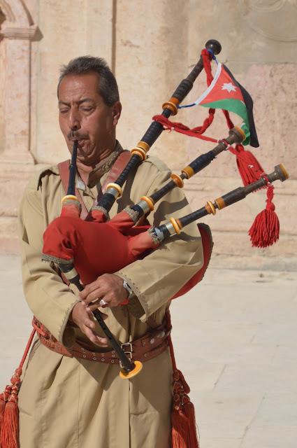 Joueur jordanien de cornemuse