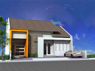 desain rumah 4 kamar tidur 1 lantai