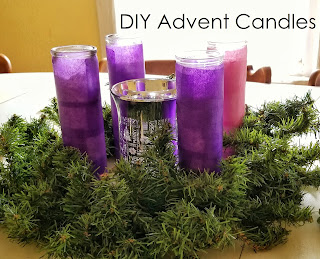 diy advent wreath candles, easy tutorial, by refabulous