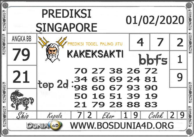 PREDIKSI TOGEL SINGAPORE DUNIA4D 01 FEBRUARI 2020
