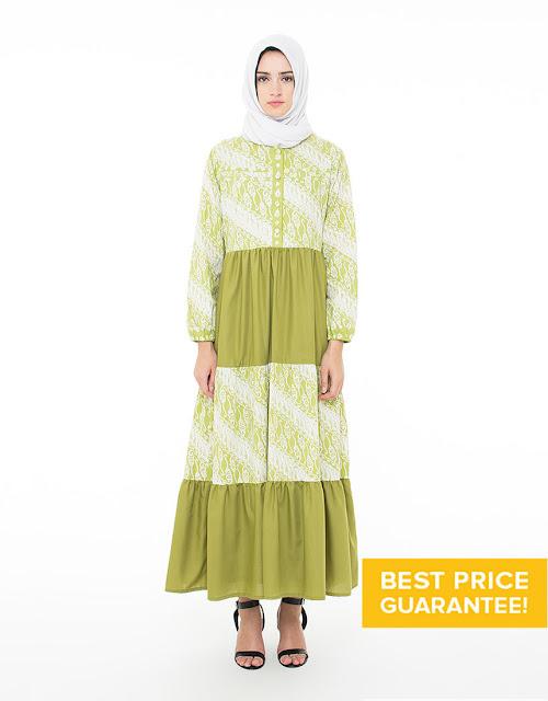 Model Baju Batik Gamis Kombinasi Terbaru