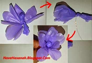 Cara Membuat Bunga Lavender dari Kantong Plastik Bekas 7ff5d5eac5