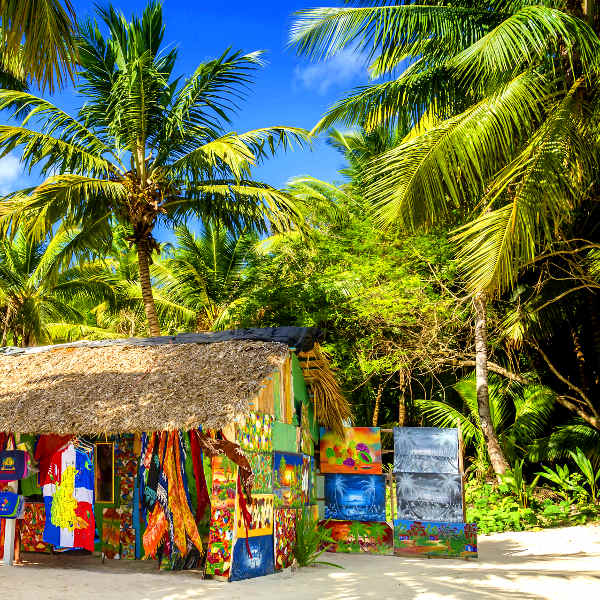 Boutique de souvenirs en Jamaique