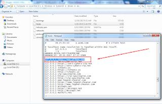 CWindowsSystem32driversetc