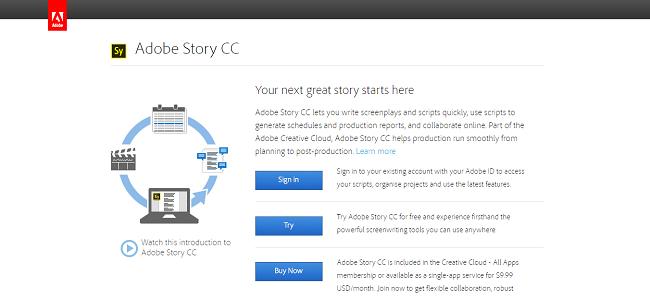 Adobe Story CC