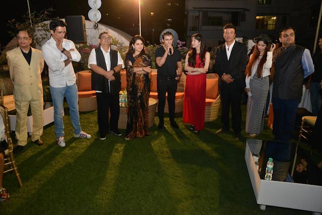 Pic-2: LtoR-V.N. Dhoot, Sonu Sood, Subhash Ghai, Shaina NC, Sonu Nigam, Anmol Malik, Anu Malik, Ada Malik and Anirudh Dhoot