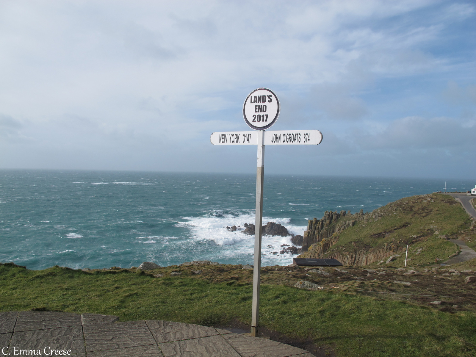 Legging it to Land's End, Cornwall
