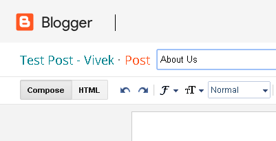 Paste permalink url in page title