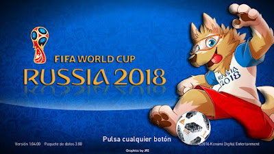 PES 2018 / PES 2017 Graphic Menu World Cup 2018 Russia v2 by JAS