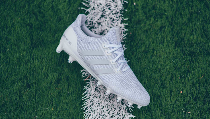 60ce9b0a9 It has not known yet when the whiteout Adidas Ultra Boost cleat will go on  sale.