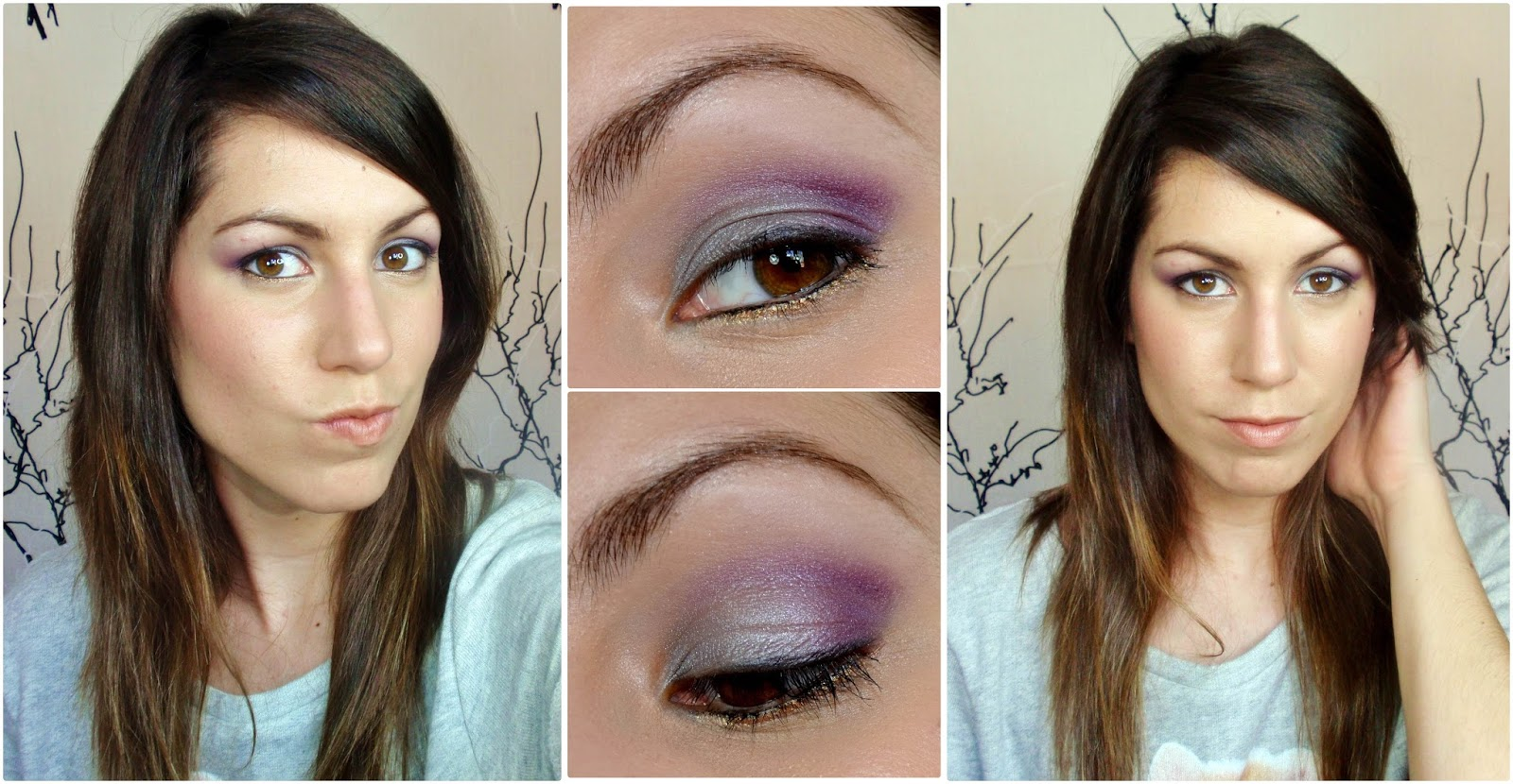 rubibeauty maquillaje look peggy sage morado fashion plum