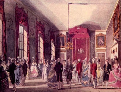 A drawing room at St James's Palace from The Microcosm of London (1808-10)