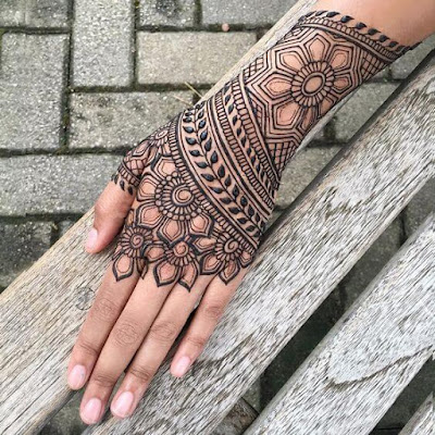 best mehndi designs for left hand