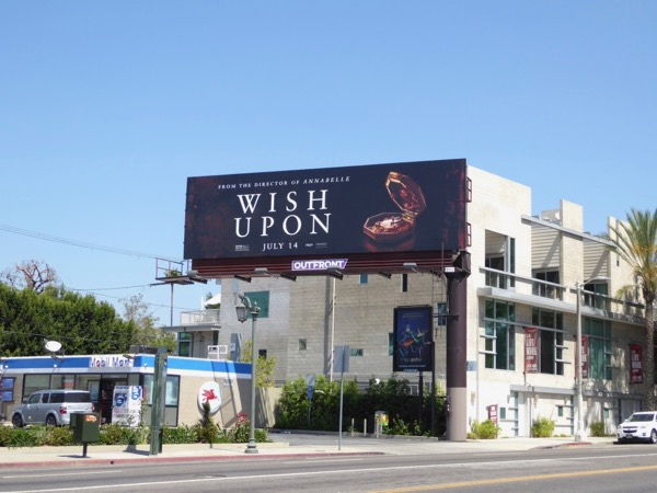 Wish Upon movie billboard