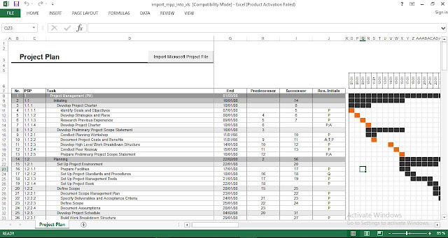 Download Project Plan Excel Template