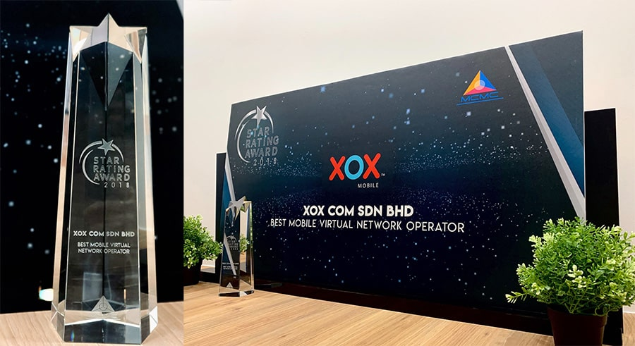 XOX Best MVNO anugerah Star Rating Award 2018