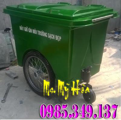 Xe -đẩy -rác -660- lít -nhựa -Composite