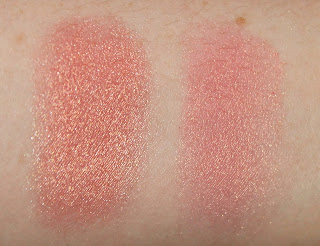 Becca Luminous Blush Rosé Spritz Nars Powder Blush Orgasm swatch swatches comparison vs