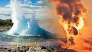 Científicos: YELLOWSTONE han advertido que fuertes terremotos cercanos podrían hacer que los géiseres hagan estallar agua hirviendo en el aire.
