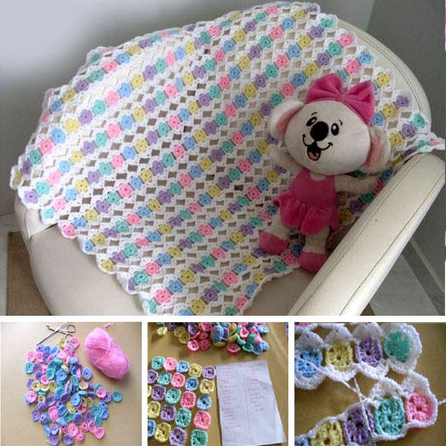 One-Round Granny Crochet Blanket - Tutorial