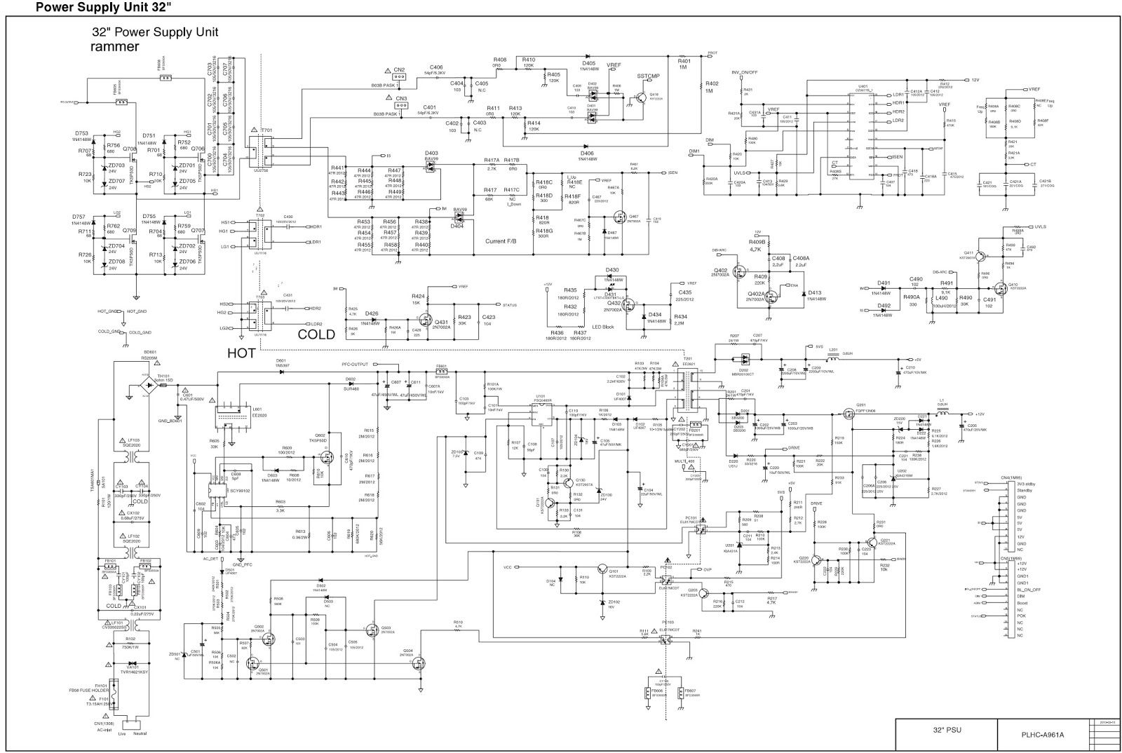 Philips 32 inch LCD TV power supply Circuit Diagram – RAM1