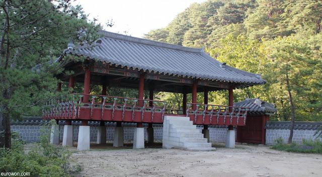 Pabellón coreano en set de rodaje de la KBS en Mungyeong