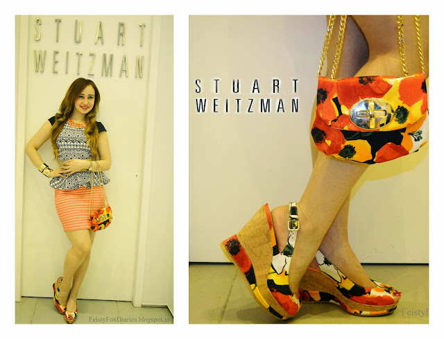 Stuart Weitzman Floral Print Bag & Heels