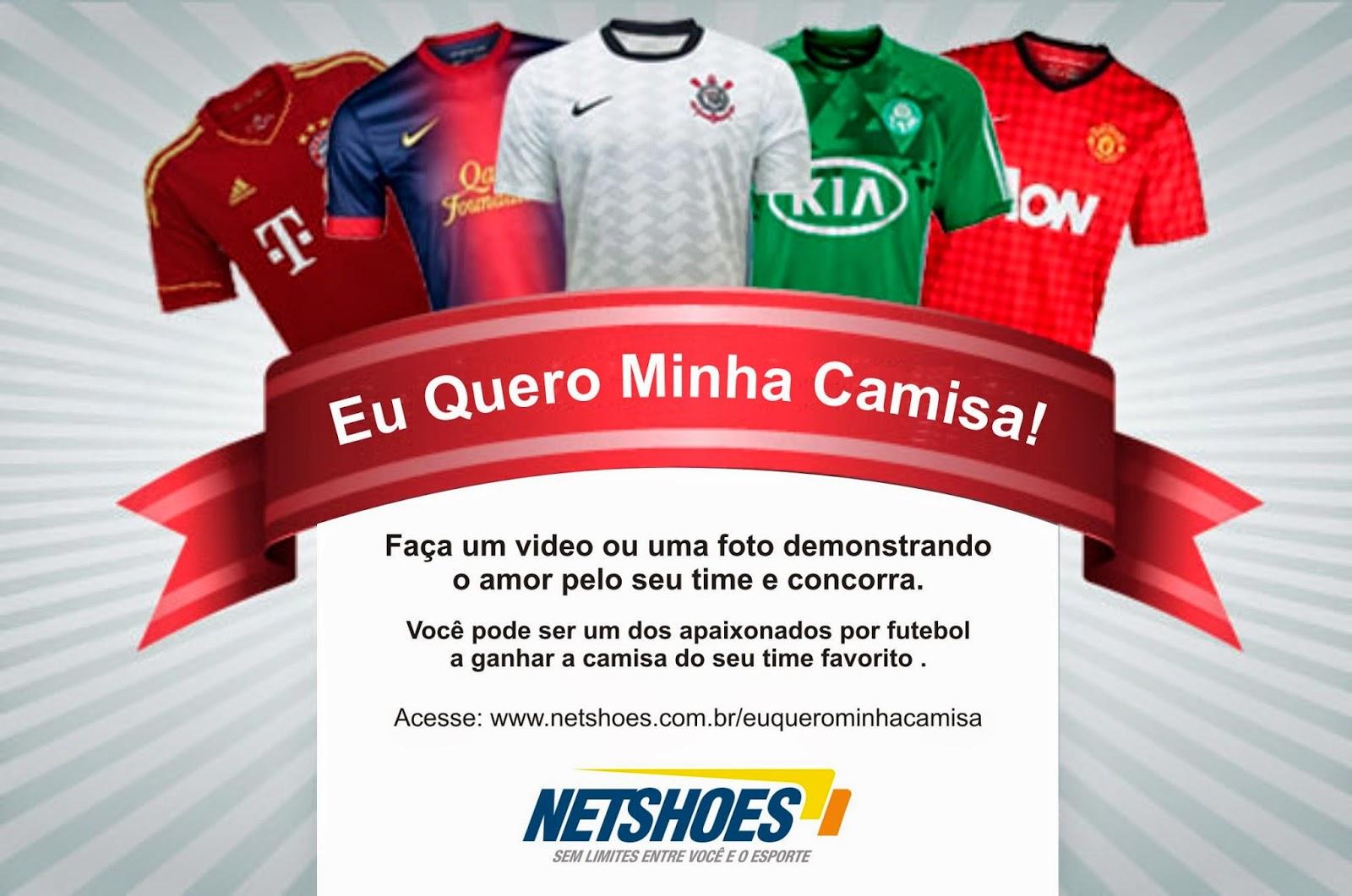 258efdad65 Serão 200 contemplados com as camisas oficias dos clubes brasileiros. A  campanha será lançada no próximo dia 20 de novembro e no dia 17 de dezembro  os nomes ...