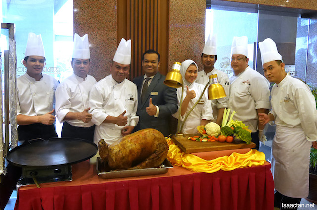 The culinary team under Chef Sakya