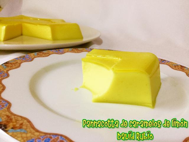 Pannacotta de caramelos de limón