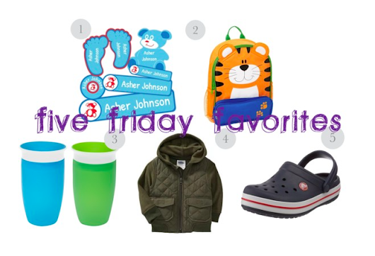 Toddler Back to School Friday Faves