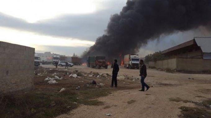 Rusia se venga: destruye un convoy turco.