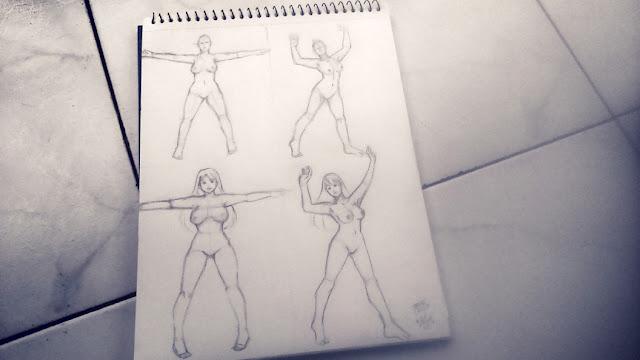 dibujo de anatomía femenina