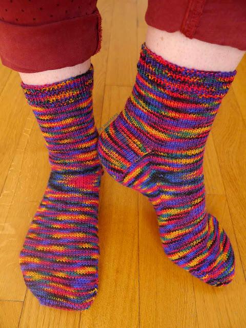 chaussettes en tricot laine multicolore