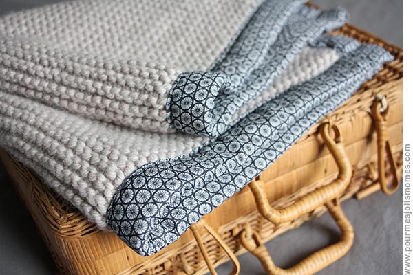 baby blanket tricot tissu diy pour mes jolis m mes mais pas que. Black Bedroom Furniture Sets. Home Design Ideas