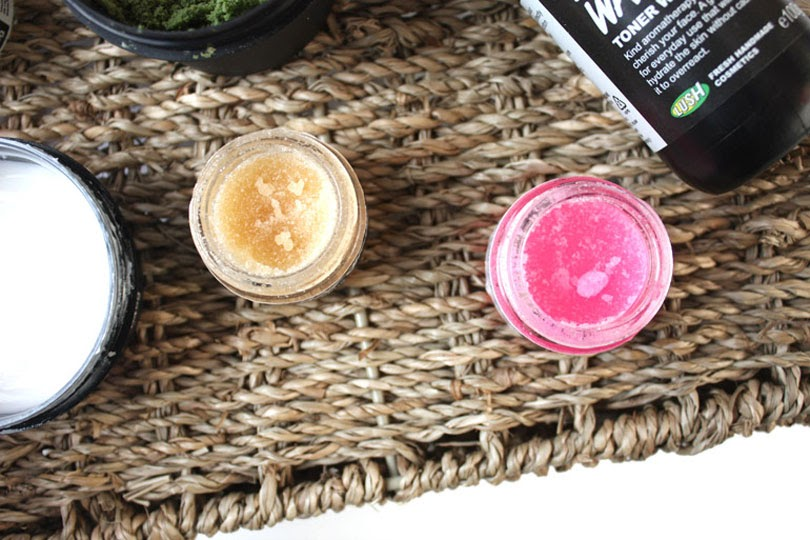 winter morning skincare routine lush lip scrubs