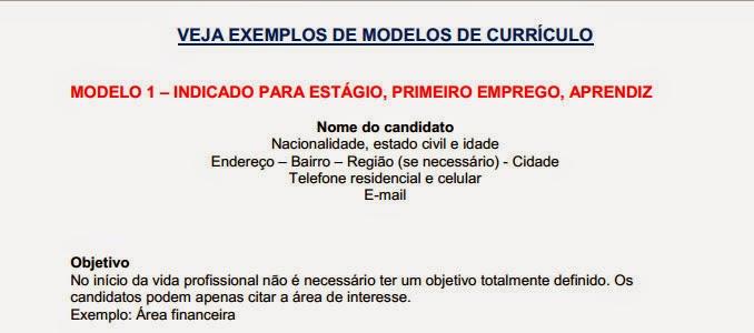 Mundo Curioso Modelos De Curriculos Pronto Para Imprimir
