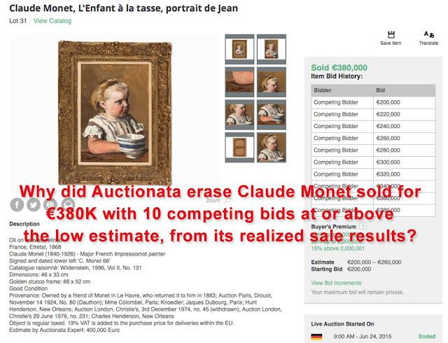 Overpriced Monet sold for 380k euros