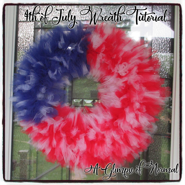 4th of July Wreath Tutorial, A Glimpse of Normal, Easy Crafts