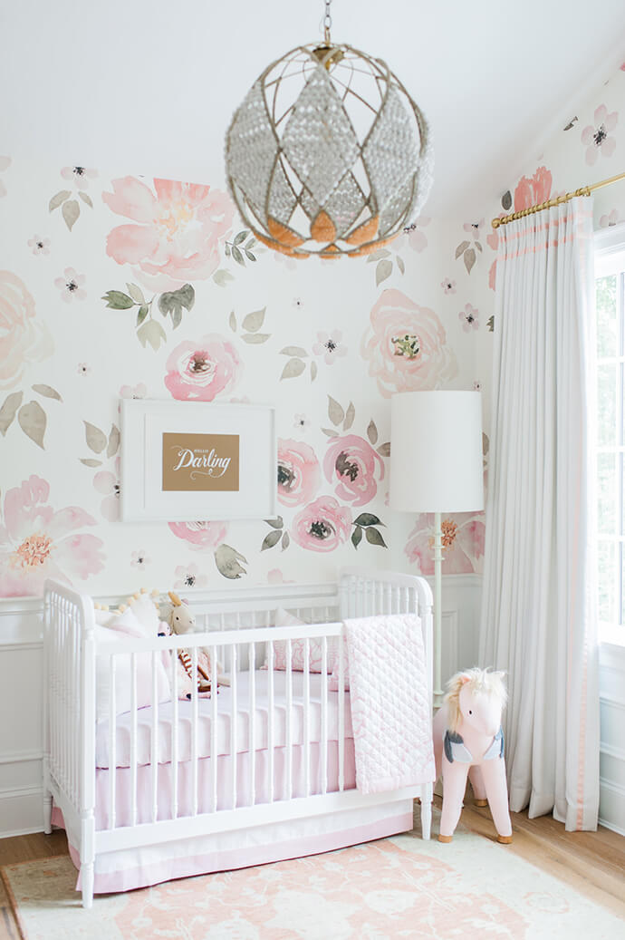 watercolor wall paper nursery