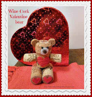 Valentine wine cork bear