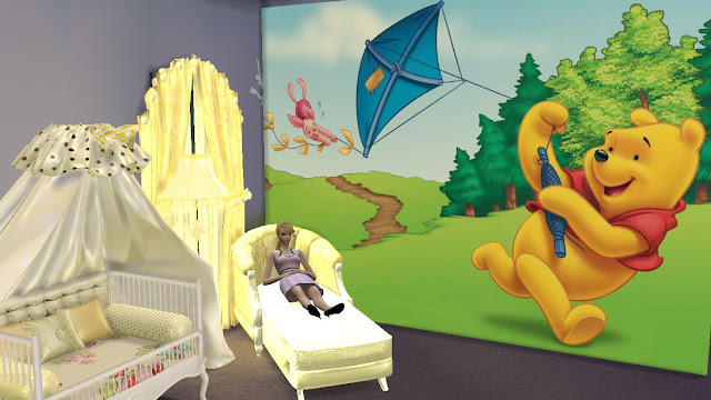 sims 4 winnie the pooh wall sticker,decal and mural download
