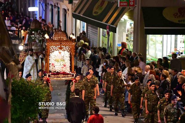 Πολυαρχιερατικός εσπερινός και λιτανεία στο Άργος για τον Πολιούχο Άγιο Πέτρο τον θαυματουργό (βίντεο)