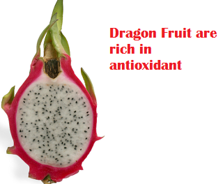 Dragon Fruit are rich in antioxidant