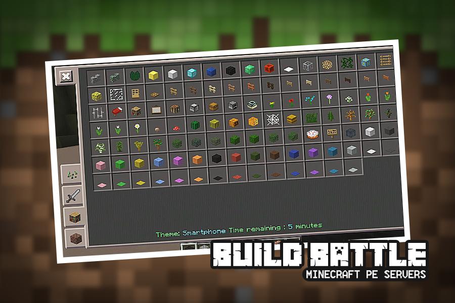 Build Battle Servers for Minecraft PE - Minecrafterpe com l Tools